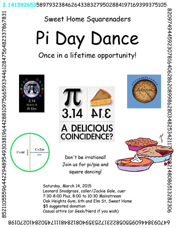 Pi Day Dance flyer